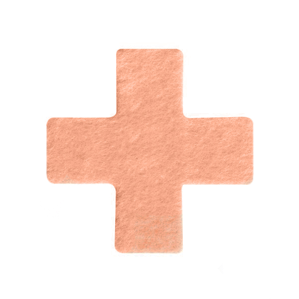 Pre Cut Fleecy Pads - St Georges Cross, Pack of 36