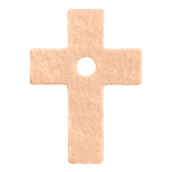 Pre Cut Fleecy Pads - Latin Cross, Pack of 36