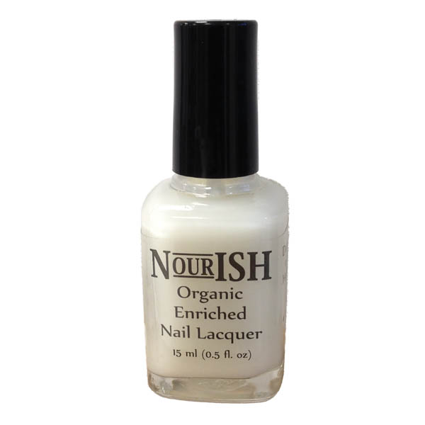Nourish Organic Nail Polish 15ml. Milky Base Coat