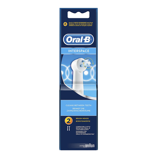 Oral-B Interspacial Replacement Toothbrush Heads, Pack of 2
