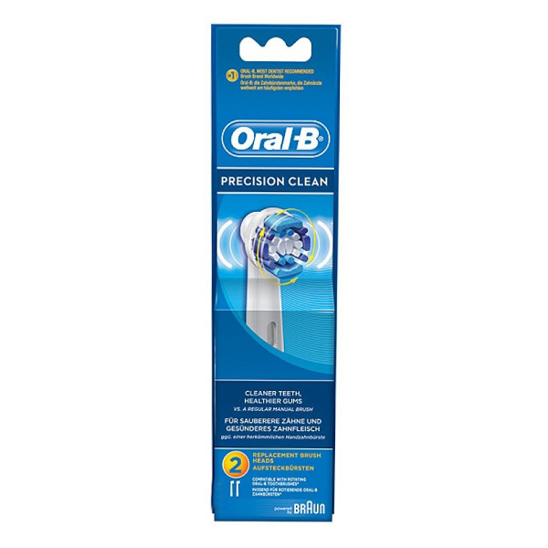 Oral-B Precision Clean Twin Replacement Heads, Pack of 2