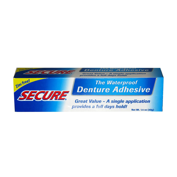 Secure Denture Adhesive >> Secure Denture Adhesive 40g | UpbeatCare, UK