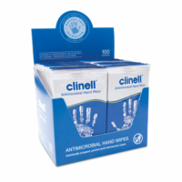 Clinell Antimicrobial Hand Wipes Individuals Pk100