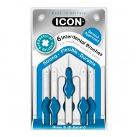 Icon ID Brush AntiBac Blue (Size 3) Pk6, Pack of 6