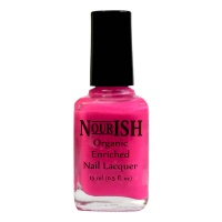 Nourish Organic Nail Polish 15ml. Hottest Pink