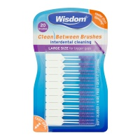 Wisdom Clean Between Brushsticks Large (Purple), Pack of 20